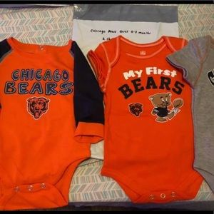 Chicago bears boys one piece suits 0-3 months
